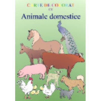 Carte De Colorat Cu Animale Domestice Bibliosro